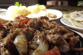 Csirke Fajitas, rizses-babos körettel